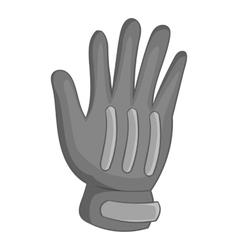 Winter sport glove icon gray monochrome style vector