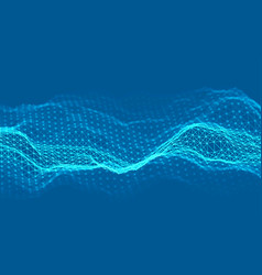 Woice wave background eps 10 abstract vector