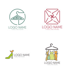 women fashion logo and icon design vector image