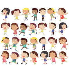 A group of happy kids vector image vector image