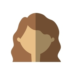 avatar woman face shadow vector image