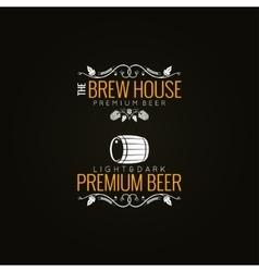 beer label set background vector image vector image