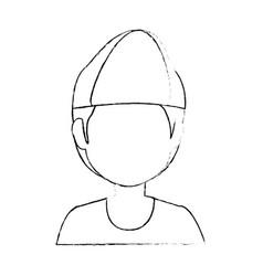boy faceless avatar vector image