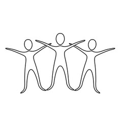 figure people raise their hands vector image vector image