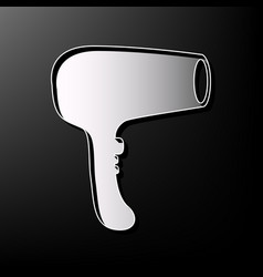 hair dryer sign gray 3d printed icon on vector image