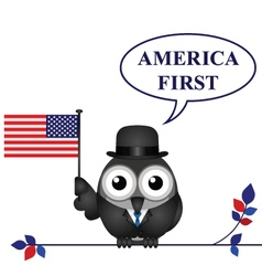 America First pledge vector image