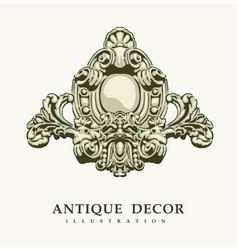 Classical antique decor vector