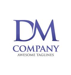 dm logo letter vector image vector image