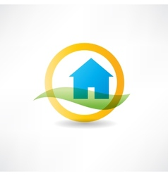 eco house abstraction icon vector image vector image