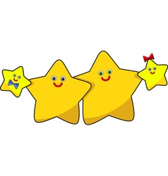 funny image the family of stars vector image vector image