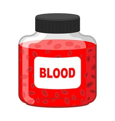 Blood Bank Bottle of Red liquid-lymph Gif vector image vector image