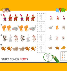 Complete the pattern activity game vector