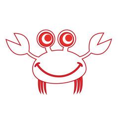 comic character crab icon vector image