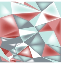 poly triangle 3d seamless pattern vector image