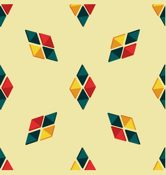 triangle seamless pattern with bright details vector image vector image