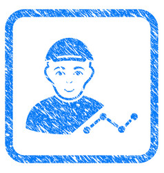 User chart framed stamp vector