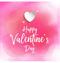 valentines day background with watercolour texture vector image vector image