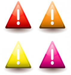 warning triangle vector image vector image