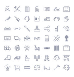 49 service icons vector