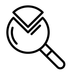 A quarter magnifier icon outline style vector