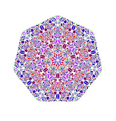 Abstract ornate isolated floral mosaic ornament vector