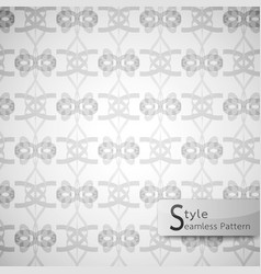 abstract seamless pattern bow ribbon white vector image