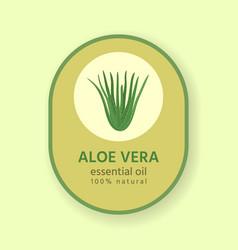 Aloe vera essential oil design labels stickers vector