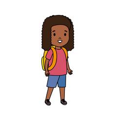Black little student girl vector