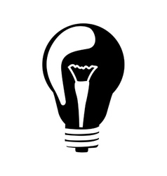 Black silhouette lamp with filament vector
