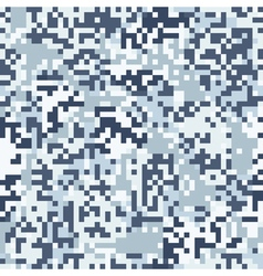 Blue digit camouflage seamless pattern vector image