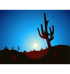 Blue Sky Cactus vector