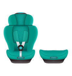 booster child car seat 3 isolated on a white vector image