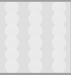 Cable knit white pattern vector