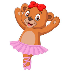 cartoon babear ballet dancer vector image