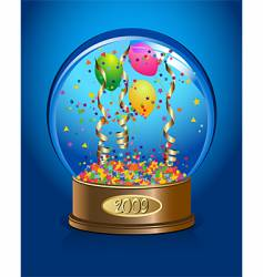 celebration water-globe vector image