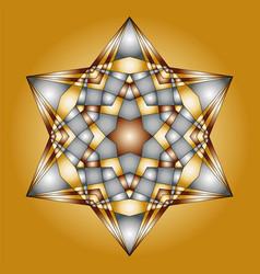 Christmas mandala gold and silver colored vector