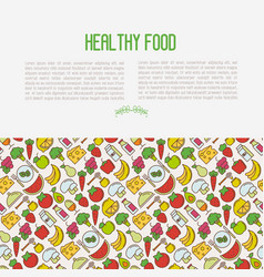 concept of organic food contains seamless pattern vector image