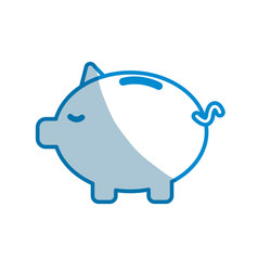 Contour save money inside pig in the home vector