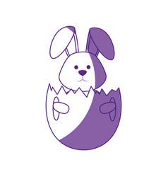 cute easter bunny cartoon vector image