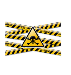 Danger sign and isolated white background vector