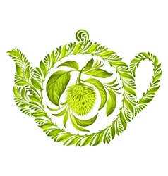 decorative ornament herbal teapot vector image