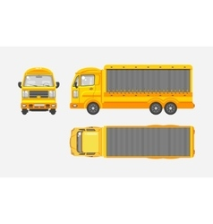 Delivery truck top front side view vector