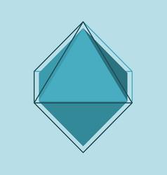 diamond simple vector image