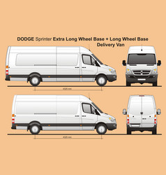 Dodge sprinter extra lwb and lwb cargo van vector