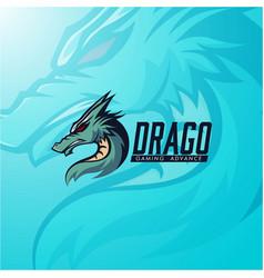 dragon mascot logo gaming template vector image