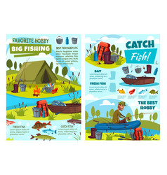 Fishing hobadventure fisher lures equipment vector