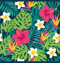 floral tropic seamless pattern vector image