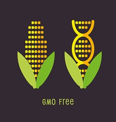 Genetically Modified Organisms GMO FREE emblem vector