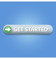 Get Started Button vector image