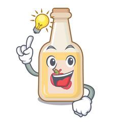 Have an idea bottle apple cider above cartoon vector